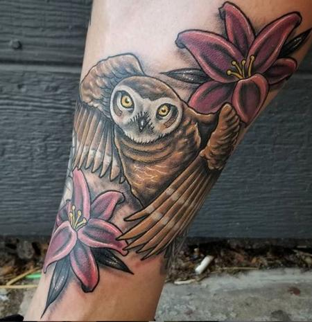 Tattoos - Cody Cook Owl - 139614